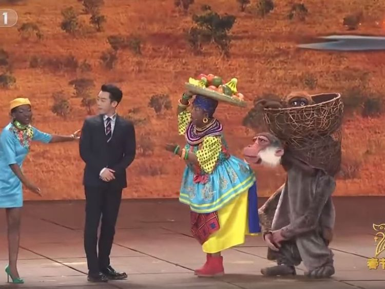China sparks fury for 'racist' New Year TV show