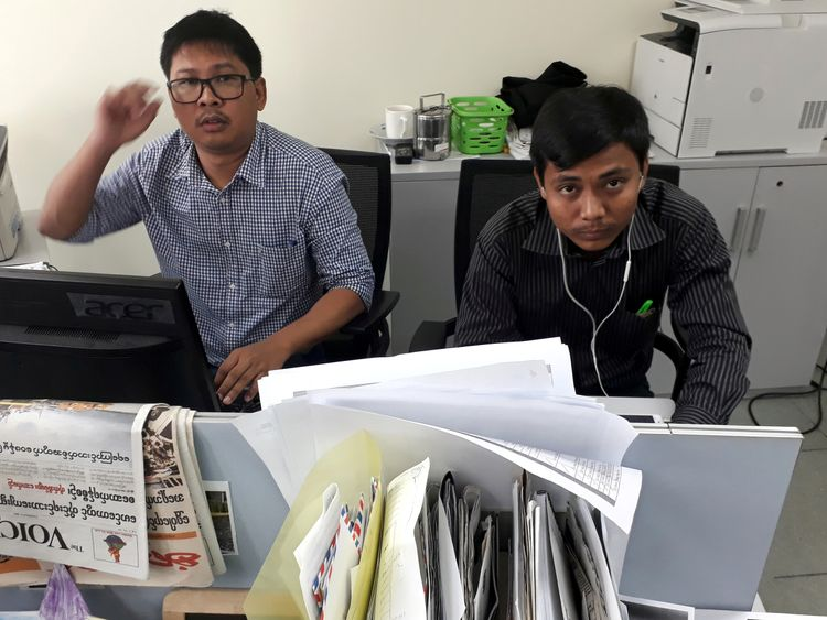Reuters journalists Wa Lone and Kyaw Soe Oo remain detained in Myanmar