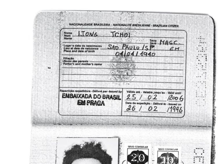 Kim Jong Il's false passport