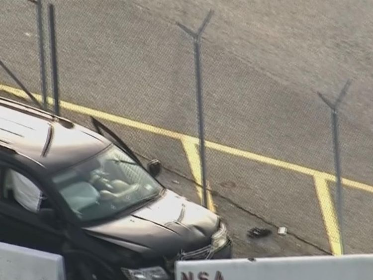 The shooting occurred near the offices of the National Security Agency