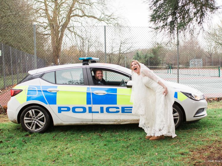 Wedding photo shoot interrupted by police drugs chase