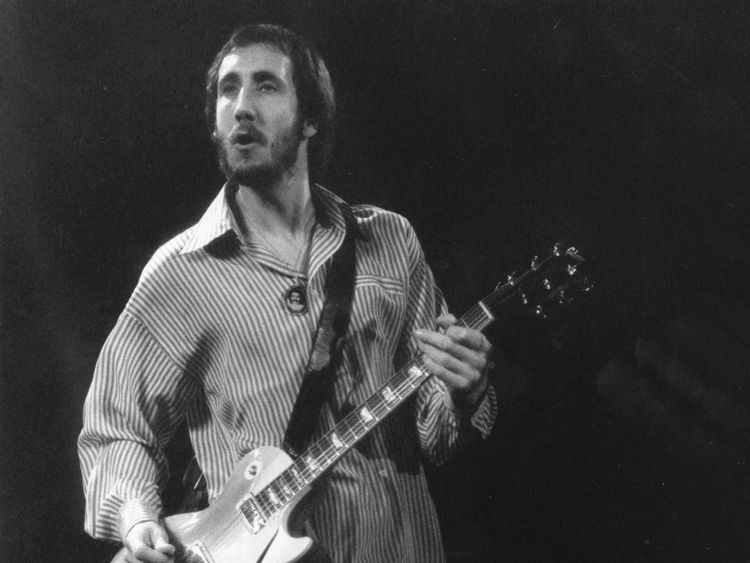 The Who's Pete Townsend performing in 1976