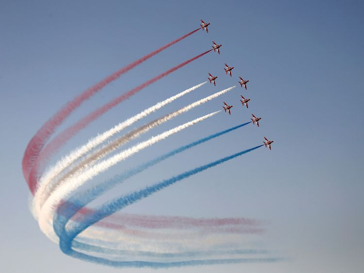 The Red Arrows always provide quite the spectacle
