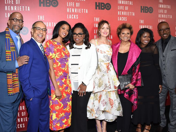 """attends """"The Immortal Life of Henrietta Lacks"""" premiere at SVA Theater on April 18, 2017 in New York City."""