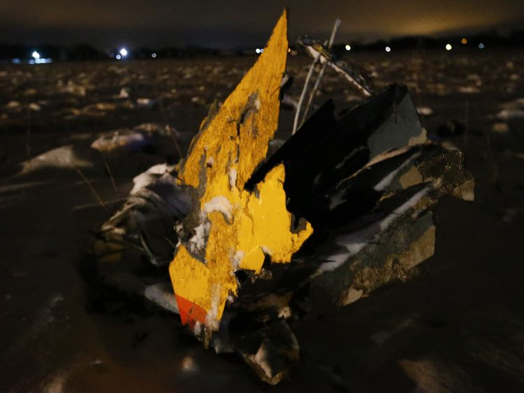 More debris found scattered around the crash site