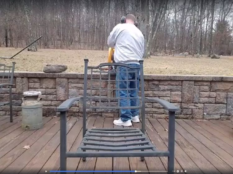 Scott Pappalardo posted a video of himself destroyed his AR-15 rifle. Pic Scott Pappalardo  Facebook