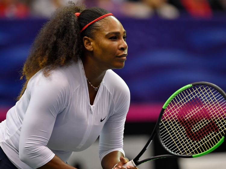 Serena loses in return but says she is 'on the right track'