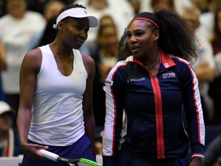 Serena Williams back on court with sister Venus after pregnancy break