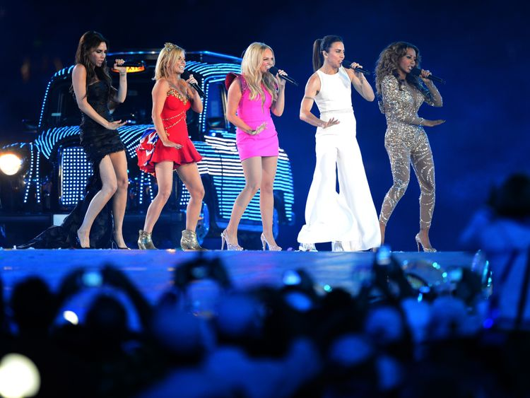 Spice Girls perform at the London Olympics in 2012