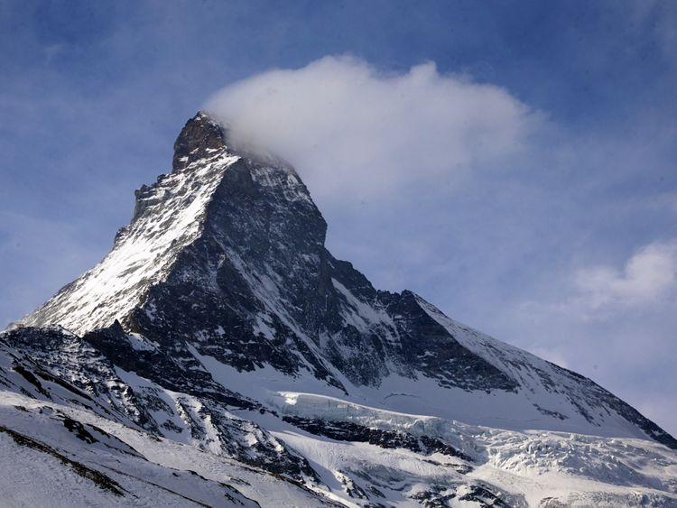 The avalanche happened in the Valais region. File pic
