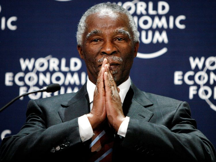 Thabo Mbeki during the World Economic Forum (WEF) in 2007.