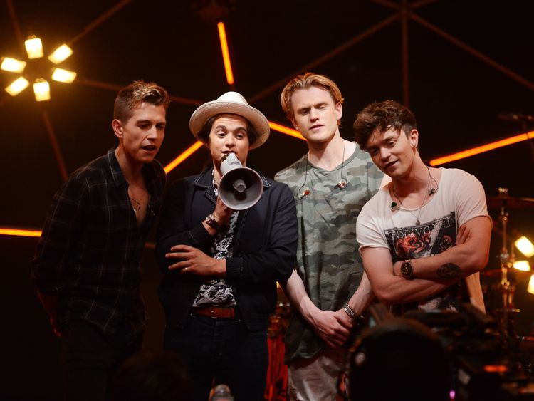 LONDON, ENGLAND - JUNE 09: James McVey, Bradley Simpson, Tristan Evans and Connor Ball of The Vamps at MTV Live Stage at ExCel on June 9, 2017 in London, England. MTV Live Stage is a new music series that puts the artist at the epicentre of the performance. Filmed in a unique 360 degree light set and caged within an incredible steel dome, it will feature performances by Anne Marie, The Amazons, Dua Lipa, Sean Paul and The Vamps, and premieres on MTV UK on Friday at 8pm from 30th June 2017. (Phot