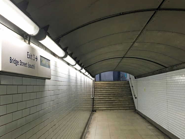 Exit three at Westminster Underground station