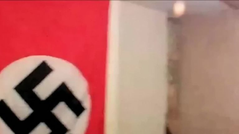 Police filmed inside the flat of neo-Nazi Ethan Stables as he planned an attack on a gay pride event.