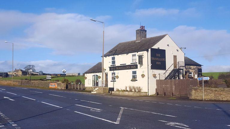The Travellers Inn pub where Scott crashed his car