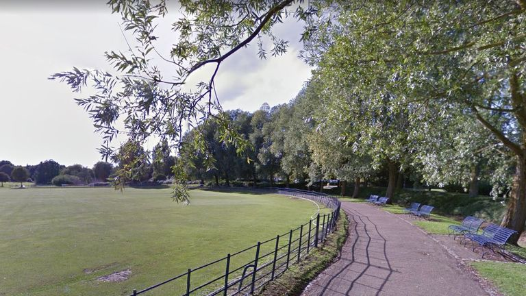 The man was sitting on a bench in Campbell Park, Milton Keynes. Pic: Google Street View