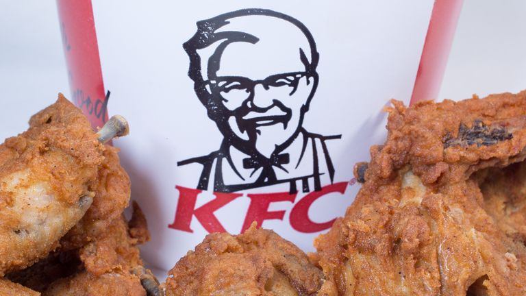 KFC said 628 stores in the UK were now up and running