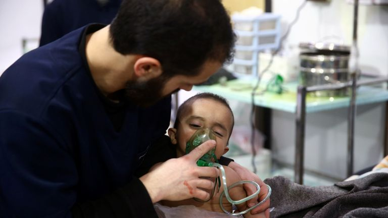 Children were affected by the attack on Ghouta, Syria