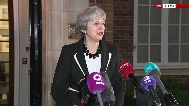 Prime Minister Theresa May in Stormont