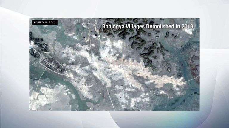Rohingya villages February 2018.