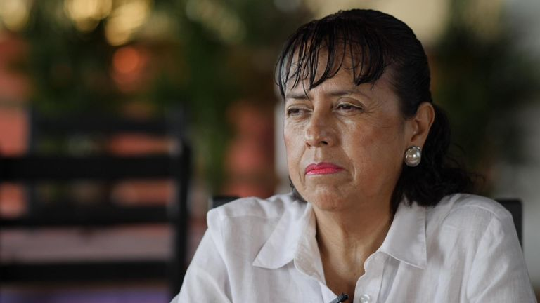 Laura Caballero says businesses are being ruined by extortion