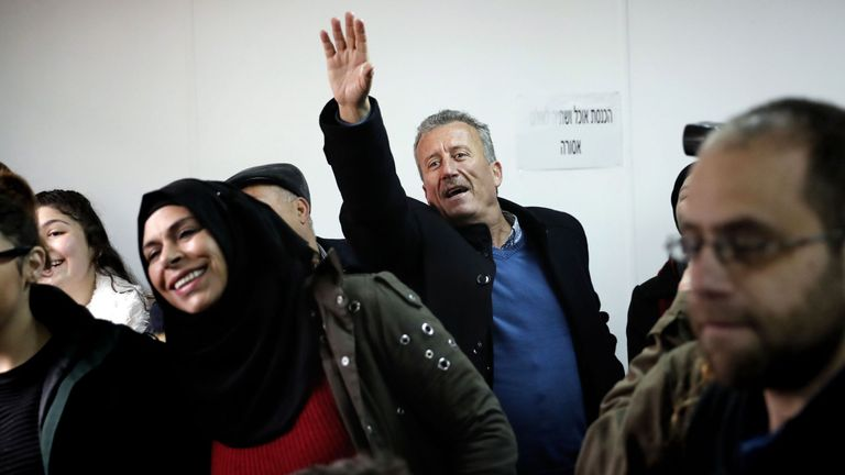 Bassem Tamimi, the father of seventeen-year-old Palestinian Ahed Tamimi,