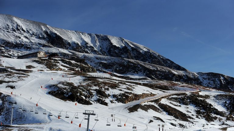 The French ski resort of Alpe d'Huez