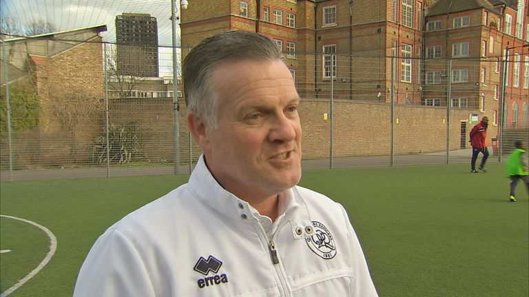 Former England international Andy Sinton oversees QPR's Grenfell initiative