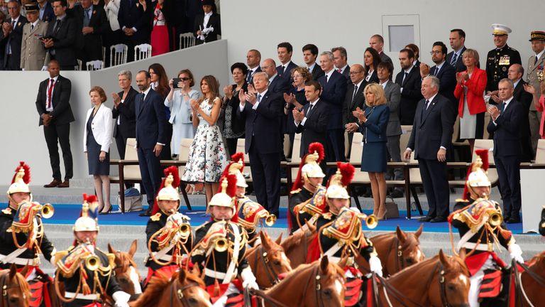 President Trump joined President Macron for France's Bastille Day parade last year