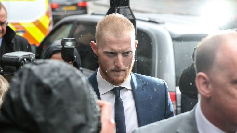 England cricketer Ben Stokes arrives at Bristol Magistrates Court