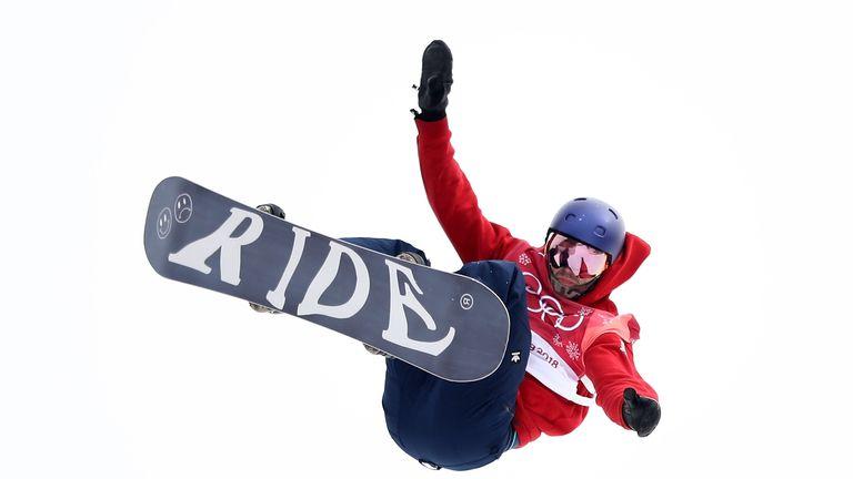 Billy Morgan mid air during one of his big air jumps