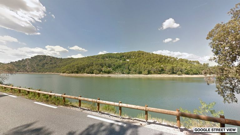 Carcès lake in France