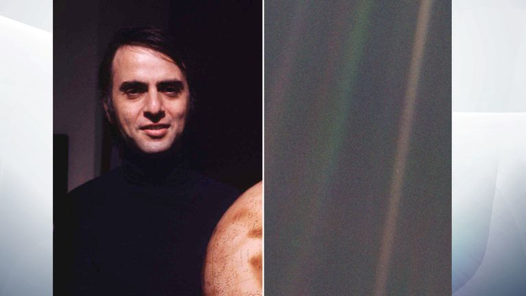 Carl Sagan  and the 'Pale Blue Dot' photograph