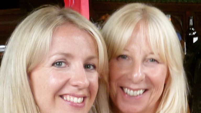 Claire Dale and her mother Irene Parker, who died of melanoma. Pic: Claire Dale