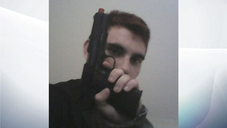 The suspect posed for guns on social media Pic:Instagram/cruz.nikolaus