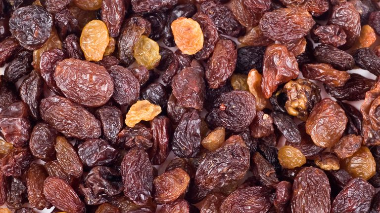 The price of currants, raisins and sultanas has soared
