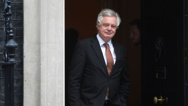 Exiting the European Union Secretary David Davis leaving 10 Downing Street, London, after a Cabinet meeting.