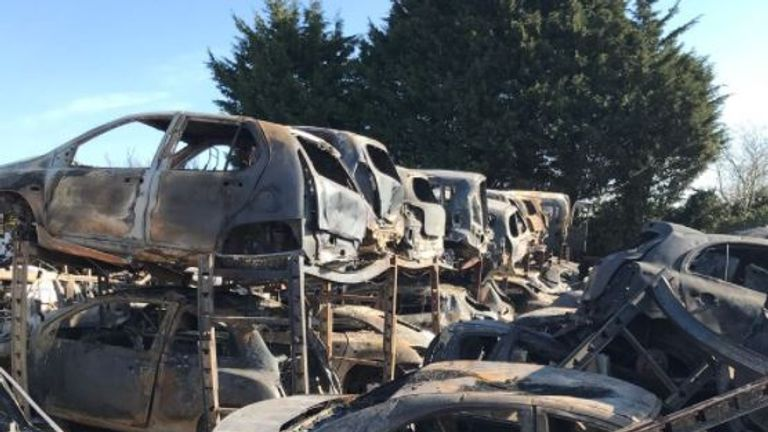 A 13-year-old girl has been arrested over an arson attack which damaged 120 cars in Deal. Pic: Kent Police