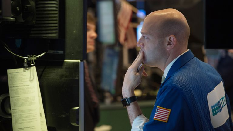 The Dow Jones plummeted on Monday evening