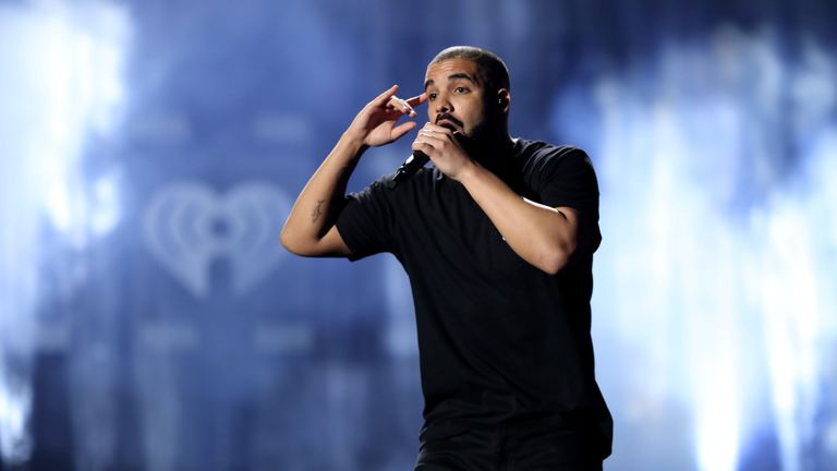 Drake performing in Las Vegas in 2016