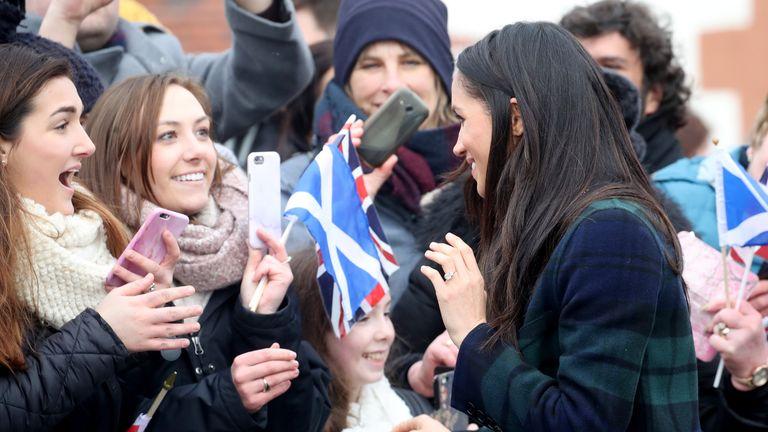 Meghan Markle delighted crowds at Edinburgh Castle