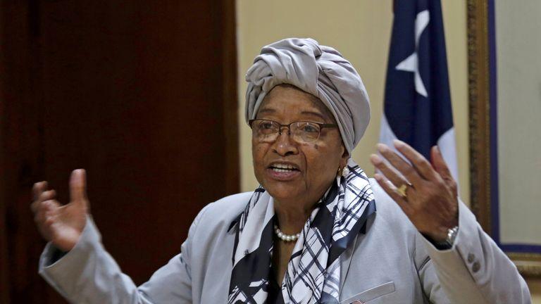 Ellen Johnson Sirleaf was succeeded by George Weah