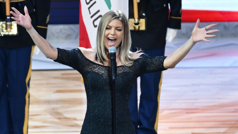Fergie apologised after her version of the anthem failed to impress