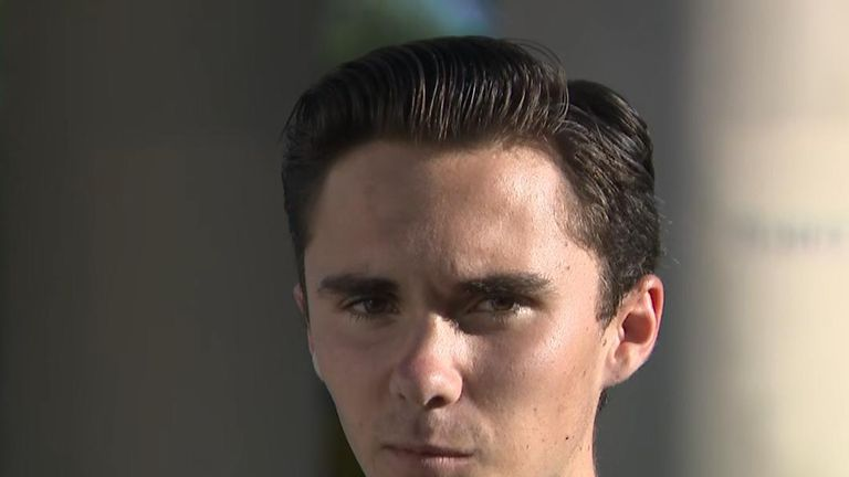 David Hogg, A survivor of the Florida shootings, speaks his mind to give trump a message.