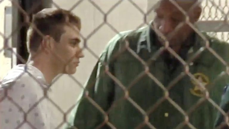 Nikolas Cruz arrives at Broward County Jail Pic: WSVN.com