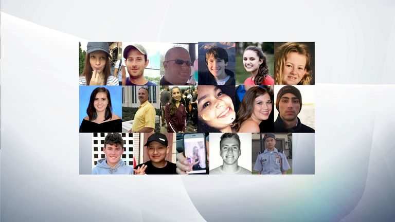 The victims of the mass shooting at a school in Florida