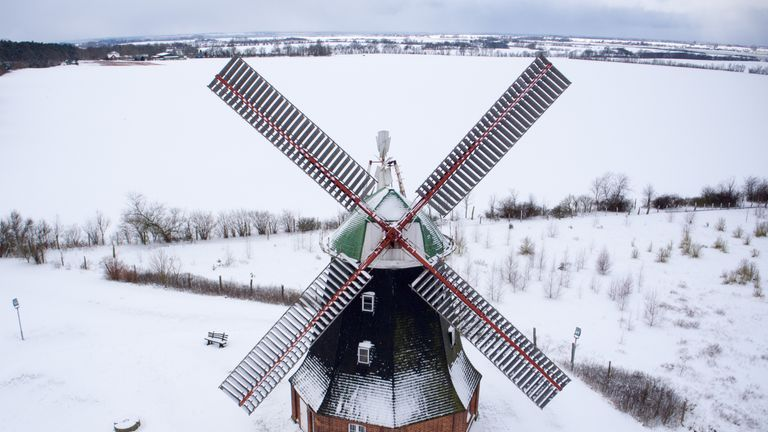 A windmill in Stove, northeastern Germany