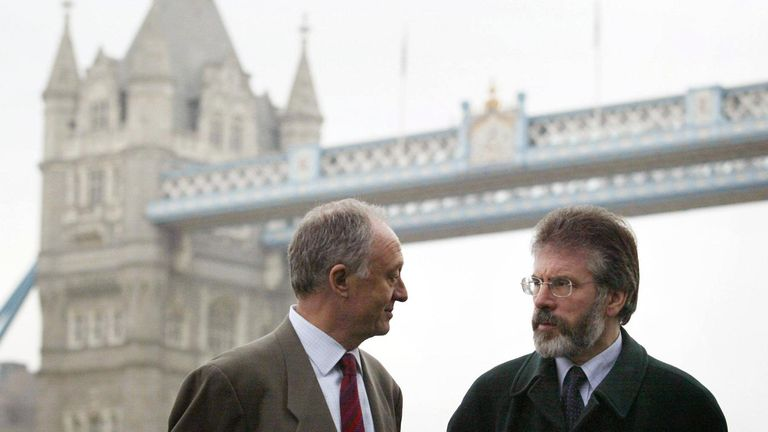 Gerry Adams and Ken Livingstone in 2005