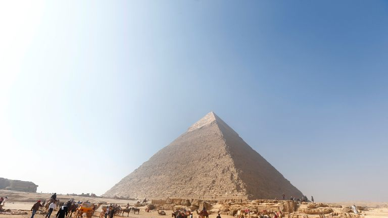 The monuments at Giza are 4,500-years-old