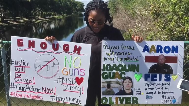 A student demands tighter gun controls after the Florida school massacre